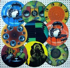 Vinyl Art by Satta van Daal, via Flickr #art #records #ilovevinyl