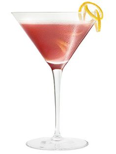 French Martini 1.5 oz vodka  1/2 oz Chambord  2 oz. pineapple juice  Shake ingredients with ice and strain into a martini glass. Garnish with a pineapple wedge or a leaf from the pineapple for a sleek modern look.   - MarieClaire.com