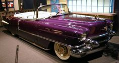 Elvis Presely's 1956 Cadillac Eldorado Convertible ... purple people eater ...