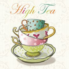 stacked tea cup painting - Google Search