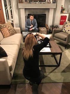 On set with Scott Clifton, CBS 2017
