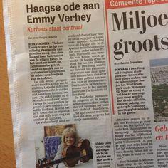 16 december krijgt Emmy Verhey een Haagse ode in het Kurhaus - vandaag in De Telegraag