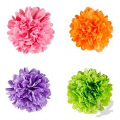 2012 #Wedding Trends: bright #Mini Tissue Paper #Pom Poms (Set of 8) - Available in 40 Colors!