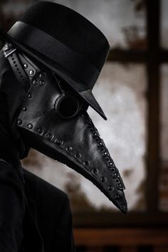 Plague Doctor by nitsuke 8 Mar 2019 002 Plague Mask, Plague Doctor Mask, Sharingan Madara, Black Plague Doctor, Gothic Mask, Creepy Photography, Cool Boy Image, Doctor Drawing, Scp 049
