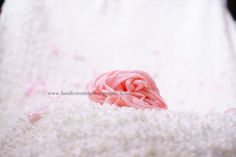 nice and cute background for a newborn photo session - baby girl - white and pink tones - soft toned colours - familystoriesphotography.com