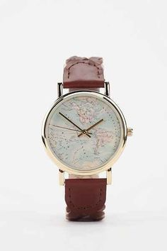Around The World Leather Watch - Urban Outfitters. I've always wanted one of these...