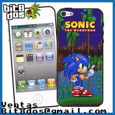 Case Sonic de la consola sega génesis o Megadrive   #pixelart Te elaboramos cualquier diseño de videojuegos. Más información en bit8dos@gmail.com