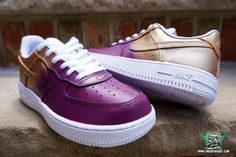 sneaker fairy fetti d'biasi custom sneakers nike air force one af1 fade wine gold purple champagne