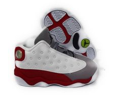 35d3d7aa3c14 ... nike air jordan 13 retro white black red grey toddler baby sneaker size  10