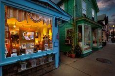 Storefronts in Rockport, Massachusetts