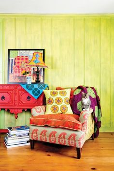 House Tour: A Colorful, Patterned Farmhouse | Apartment Therapy