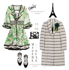 """""""Dreamy Paris'"""" by dianefantasy ❤ liked on Polyvore featuring Roberto Cavalli, MSGM, Dolce&Gabbana, Rochas, P.A.R.O.S.H., polyvorecommunity, polyvoreeditorial and fallgetaway"""