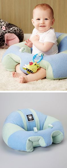 Hugaboo baby seat - leg and back support that keeps your little one from tipping forward or sliding out.
