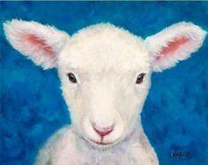 Cashmere Goat Farm Art print Goat Art by Dottie by DottieDracos