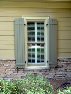 Like stone, shutters, and siding.