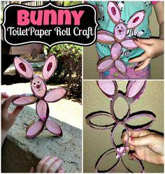 List of Toilet Paper Roll Crafts For Kids - Crafty Morning Paper Towel Roll Crafts, Towel Crafts, Paper Crafts, Paper Paper, Rabbit Crafts, Bunny Crafts, Flower Pot Crafts, Easter Art, Easter Ideas