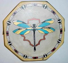 14 Inch Native American Dragonfly Hand Painted Dance Drum + Beater, POW WOW by Flat Creek Trading Post on Opensky Native American Music, Native American Regalia, Native American Artists, Native American Jewelry, American Indians, Drum Lessons For Kids, Painted Rocks, Hand Painted, Architecture 3d
