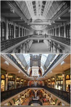 QVB interior from level 1 taking in the ground floor and upper gallery level 1898 > [City of Sydney archives > Kevin Sundgren. By Kevin Sundgren] First Fleet, The 'burbs, Sydney City, Retail Shop, South Wales, Historical Photos, Ground Floor, Old Photos, Postcards