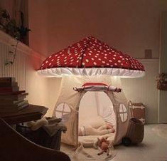 "ashley ¨̮ 💫 on Twitter: ""suddenly i need a mushroom tent… "" Room Ideas Bedroom, Bedroom Decor, My New Room, My Room, Fairy Room, Indie Room, Cute Room Decor, Aesthetic Room Decor, Dream Rooms"