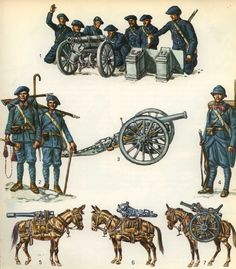 Golfian Mountain Troopers with Light Artillery, early Era