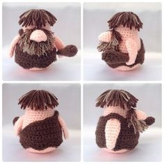 Caveman Gonk. This free pattern is for the clothing only. Gonk pattern sold separately.