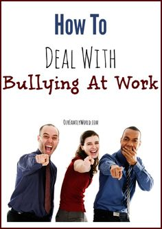 Bullied at Work? How Do You Deal With It: Avoid The Bully.  If you can do your job without interacting with the bully, then simply avoid contact with them as much as possible.  This could mean walking a different hall to your office, or bringing your lunch rather than going out with the office every day.  Simple steps to avoiding direct contact with your bully can help make your working situation easier to handle.