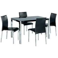 Novello Dining Set With 4 Chairs