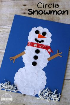 Circle Snowman Winter Craft