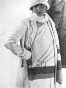 jean patou fashion photos   Jean Patou design from the mid 1920s, showing his trademark JP ...