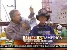 9/11: George Bush Jr at the trade center, 9/14/2001.