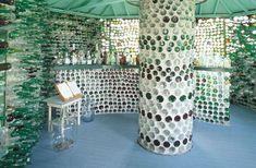 02 Taberna con botellas de vidrio - Casas con botellas Construcciones ecologicas