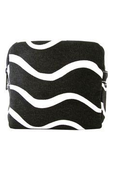 43e49b2f8fc See Design Small Cosmetic Bag Wave Black White