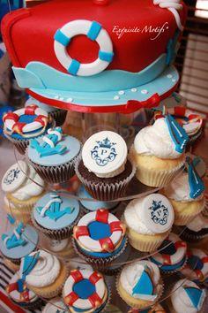 nautical birthday cupcakes