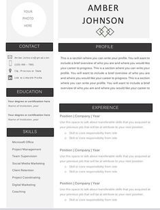 Easy to customize resume template! Only $5.99 Column Design, Resume Templates, Writing, Words, Easy, Cv Template, Horse, A Letter, Writing Process