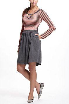 Anthropologie $58 Saturday Sunday Flowerfield Striped Jersey Chemise Dress Sz XS #Anthropologie #Casual