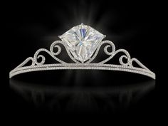"""This tiara was sold by Christie's in 2008 in the coveted """"nameless"""" state. The tiara, featuring a 101.27-carat diamond, was christened """"The Shizuka Diamond"""" in honor of the buyer's wife of 16 years."""
