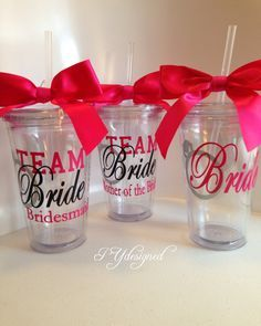 Team Bride Personalized Bachelorette Party Acrylic by PYdesigned, $12.00