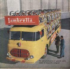 PUBBLICITA 1952 LAMBRETTA BISARCA MOTO