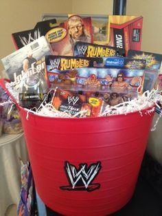 WWE Superstar Deluxe Easter Basket For Sale! Even though it isn't Easter but still! Boys Easter Basket, Easter Baskets, Gift Baskets, Easter Crafts, Holiday Crafts, Easter Ideas, Wwe Birthday, Birthday Ideas, Birthday Parties