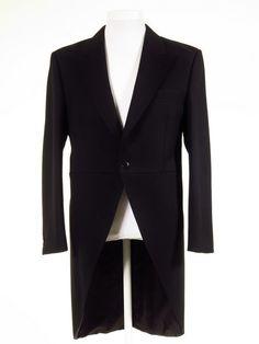 Ex-Hire Black Morning Coat.  Quality Royal Ascot fashion for men at Tweedmans Vintage.