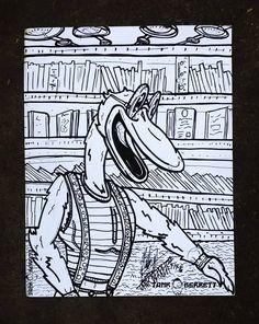 """Flocker!"" Doodle.Tank Tank Berrett Arts"