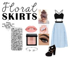 """""""Black Meets Pastel"""" by rai-rai-rian ❤ liked on Polyvore featuring Erdem, New Look, Bobbi Brown Cosmetics, Bling Jewelry and Floralskirts"""
