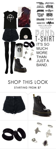 """""""•It's so much more than a band•"""" by xxbandbabexx ❤ liked on Polyvore featuring Band of Outsiders, Nobody Denim, Dr. Martens and Miss Selfridge"""