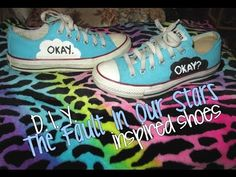 """DIY """"The Fault In Our Stars"""" inspired shoes. #TFIOS #mine"""