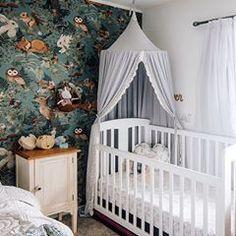 Baby nursery inspo with Spinkie Magnolia Canopy Baby Boy Rooms, Baby Boy Nurseries, Kids Rooms, Baby Girls, Kids Room Design, Nursery Design, Newborn Room, Animal Nursery, Jungle Nursery