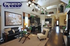 #townhome #living room in Eagle Springs   Brighton Homes®