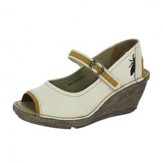 Fly London Saia Off White/Mustard