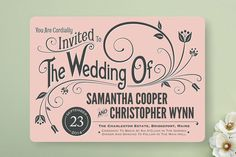 Vintage Blush Wedding Invitations from Minted @Mandy Dewey Seasons Bridal