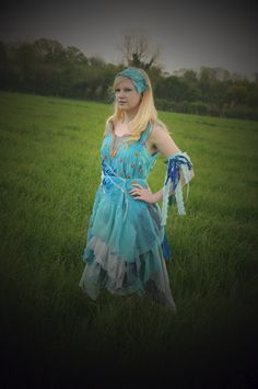 Like arm band and ribbons -  Ocean Blue Fairy Costume