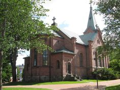 Jyväskylän kaupunginkirkko.The church building was completed in 1880. designed by architect LI Lindqvist. Jyväskylä, FINLAND photo by Tiina Litukka 06/14